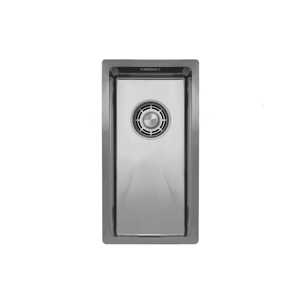 Нержавеющая Сталь Кухонный Бассейн - Nivito CU-180-B Brushed Steel Strainer ∕ Waste Kit Color