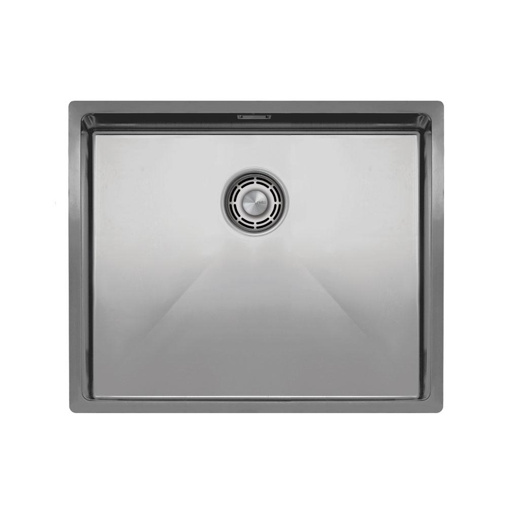 Нержавеющая Сталь Кухонный Бассейн - Nivito CU-500-B Brushed Steel Strainer ∕ Waste Kit Color