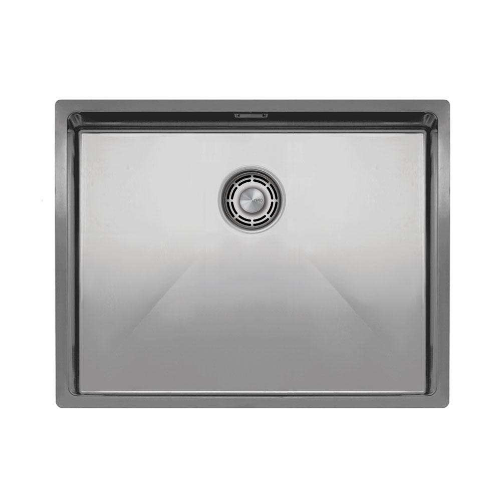 Нержавеющая Сталь Кухонный Бассейн - Nivito CU-550-B Brushed Steel Strainer ∕ Waste Kit Color