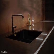 Латунь/Золотой Кухня Кран Черный/Золото/Латунь - Nivito 2-RH-340-BISTRO