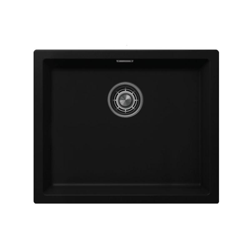 Чёрный Кухонный Раковина - Nivito CU-500-GR-BL Brushed Steel Strainer ∕ Waste Kit Color