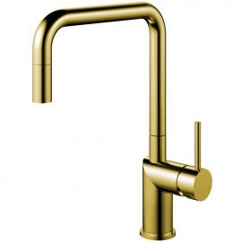 Латунь/Золотой Кухонный Кран Выдвижной шланг - Nivito RH-340-EX