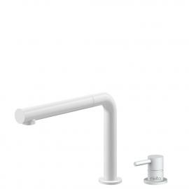 Белый Кухня Кран Выдвижной шланг / Съемный корпус/труба - Nivito RH-630-VI